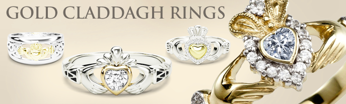 Super Claddagh Rings from Glencara JO74