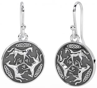 "Silver ""Celtic Horse"" Earrings"