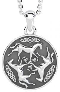 Silver Celtic Horse Pendant
