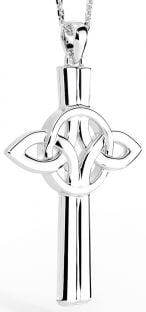 "Silver Irish ""Celtic Cross"" Pendant"