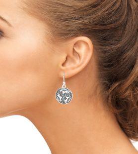 "Silver ""Celtic Horse"" Dangle Earrings"