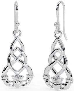 "Silver Celtic ""Claddagh"" Earrings"