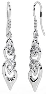 Silver Celtic Dangle Earrings