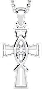 "Silver Irish ""Celtic Cross"" Pendant"