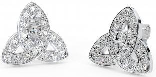 """Silver Celtic """"Trinity Knot"""" Stud Earrings"""
