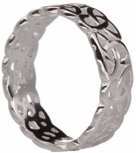 Ladies Silver Celtic Knot Band Ring