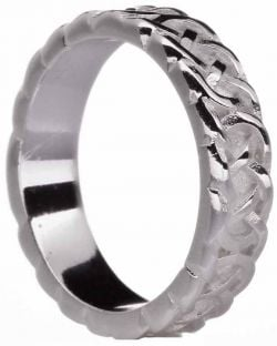 """Ladies Silver Celtic """"Eternity Knot"""" Band Ring"""