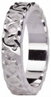 Ladies Silver Celtic Eternity Knot Ring