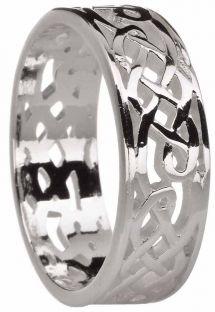 Silver Celtic Ring Unisex Ring Ladies Mens