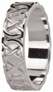 "Mens Silver Celtic ""Eternity Knot"" Ring"