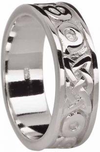 Silver Love Forever Celtic Ring