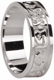 "Mens Silver ""Love Forever"" Celtic Ring"