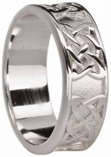 """Ladies Silver """"Lover Knot"""" Celtic Ring"""