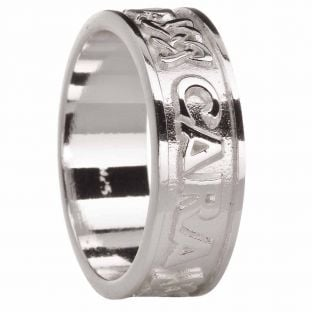 "Mens ""My Soul Mate"" Silver Celtic Ring"