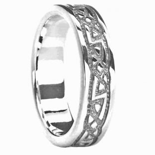Silver Celtic Ring Unisex Ladies Mens