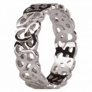 "Ladies10K/14K/18K White Gold ""Celtic Knot"" Wedding Band Ring"