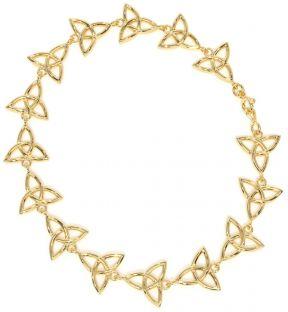 """14k Gold Silver Irish """"Celtic Knot"""" Bracelet"""