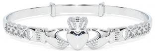 Silver Claddagh Celtic Knot Bracelet