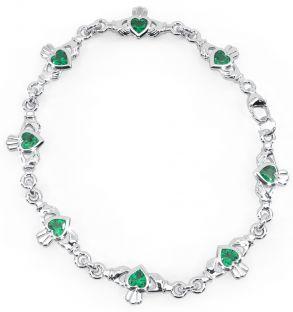 "Silver Irish ""Claddagh"" Bracelet"