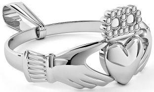 Silver Claddagh Ring Pendant Necklace