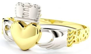 Ladies Gold coated Silver Claddagh Celtic Knot Ring