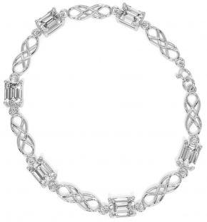 Silver Diamond Celtic Bracelet