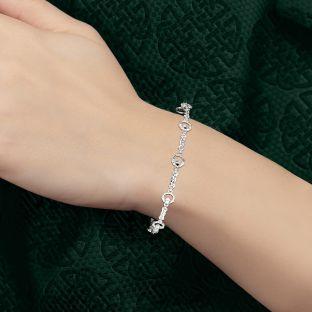 "Silver Celtic ""Claddagh"" Bracelet"