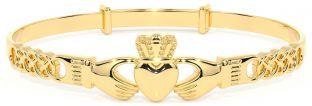 14K Gold coated Silver Claddagh Celtic Knot Bracelet
