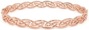 14K Rose Gold Silver Celtic Bracelet Bangle