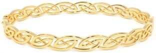 14K Gold Silver Celtic Bracelet Bangle