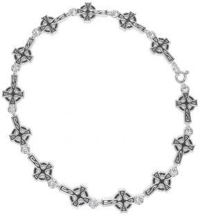 "Silver ""Celtic Cross"" Bracelet"