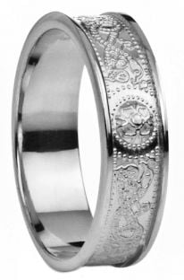 "Silver Celtic ""Warrior"" Band Ring - 5.5mm width"