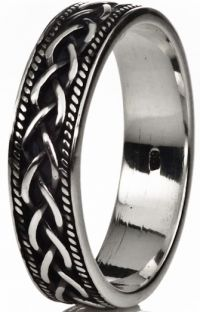 Silver Celtic Unisex Ladies Mens Band Ring