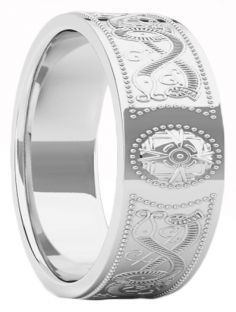 "Mens Silver Celtic ""Warrior"" Band Ring - 9mm width"
