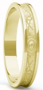 "Gold Celtic ""Warrior"" Band Ring - 5mm width"