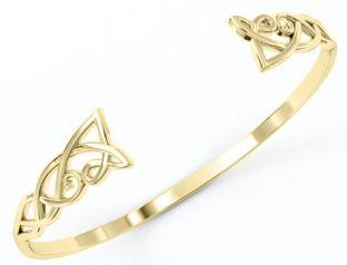 14K Gold coated Silver Celtic Knot Bracelet
