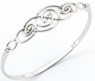 "Silver Irish ""Celtic Knot"" Bracelet"