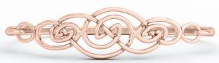 """14K Rose Gold Silver Irish """"Celtic Knot"""" Bracelet"""