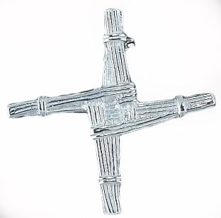 "Silver Irish ""St Bridget's"" Cross Brooch"
