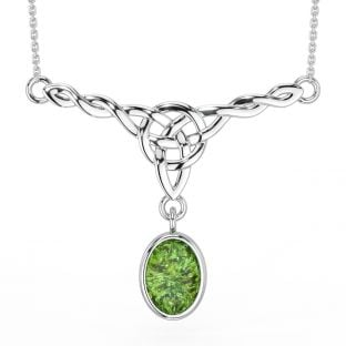 "Silver ""Irish Amber"" Celtic Necklace"