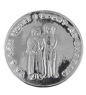"""Silver Irish """"Claddagh"""" Wedding Coin"""