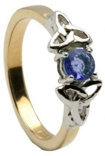 Sapphire 10K/14K18K White Gold Celtic Engagement Ring