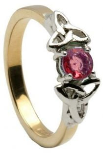 10K/14K18K Two Tone Yellow and White Gold Genuine Ruby Engagement Ring