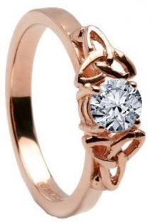 10K/14K18K Rose Gold Genuine Diamond Engagement Ring