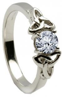 10K/14K18K White Gold Genuine Diamond Engagement Ring