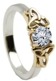 10K/14K18K White & Yellow Gold Genuine Diamond Engagement Ring