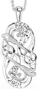 "Silver Irish ""Celtic Lion"" Pendant Necklace"