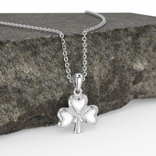 Silver Celtic Shamrock Pendant Necklace