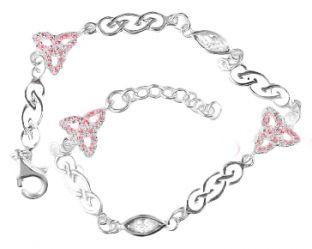 """Silver Celtic """"Trinity Knot"""" Bracelet"""