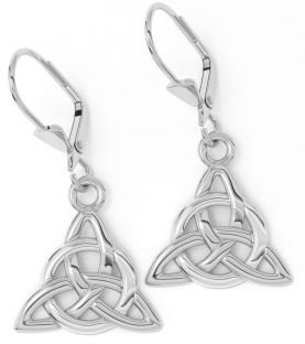 """Silver Irish """"Celtic Knot"""" Earrings"""